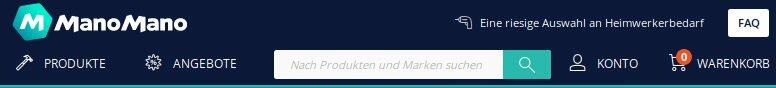Manomano.de ist ein Baumarkt in Deutschland, um Werkzeuge für Garding und Haus zu kaufen